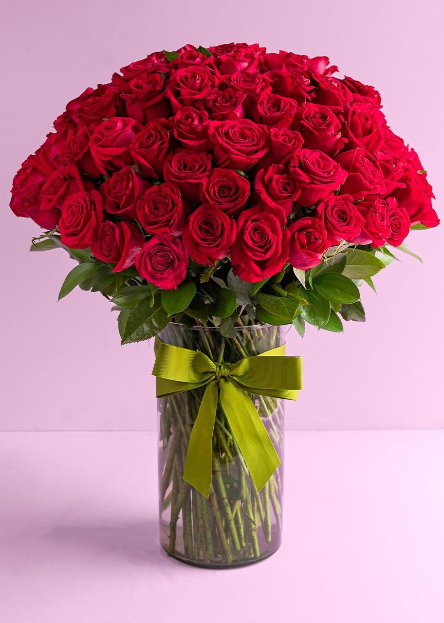 Imagen para Clásico Amor con 100 Rosas Rojas - 1