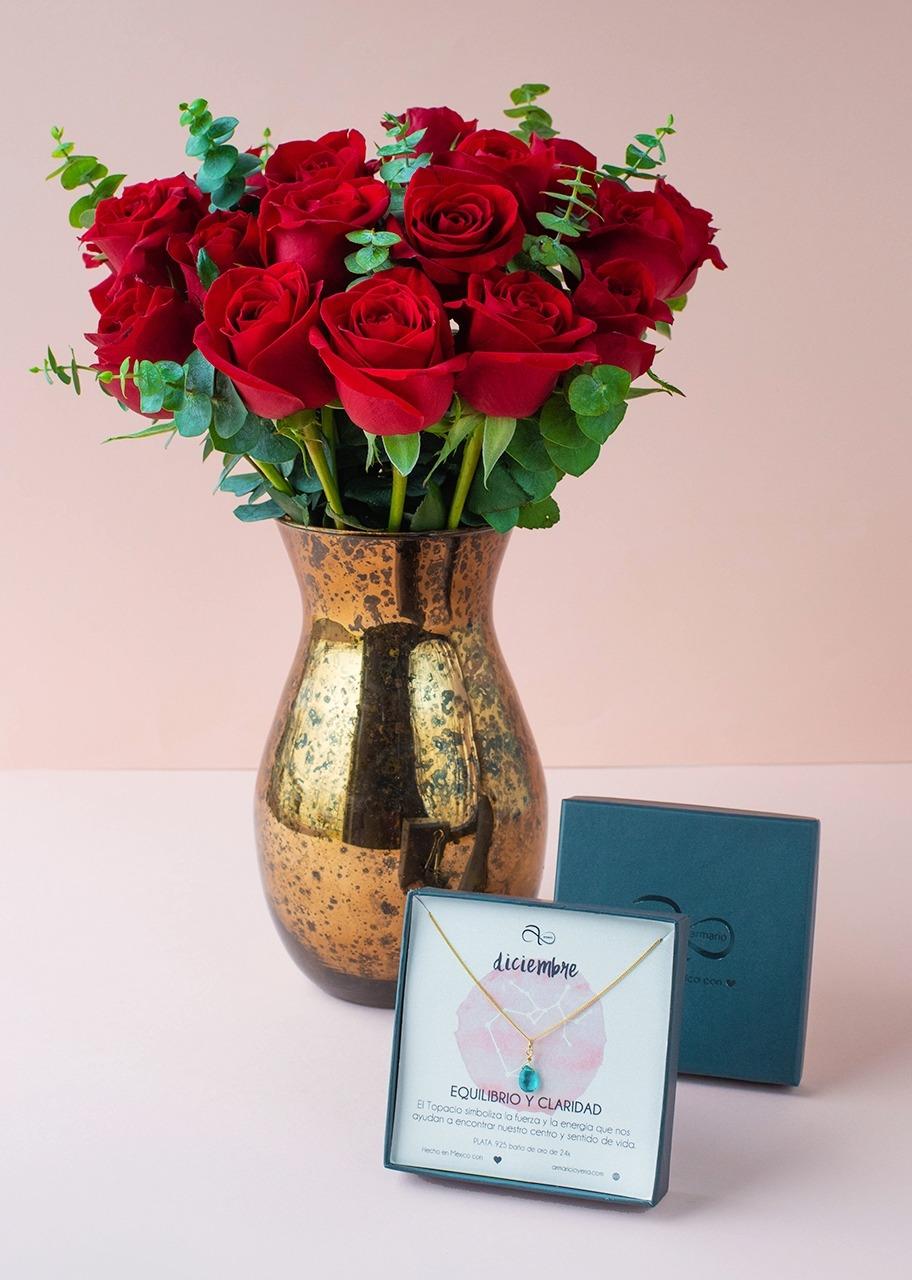 Imagen para Collar de Diciembre con Rosas rojas - 1
