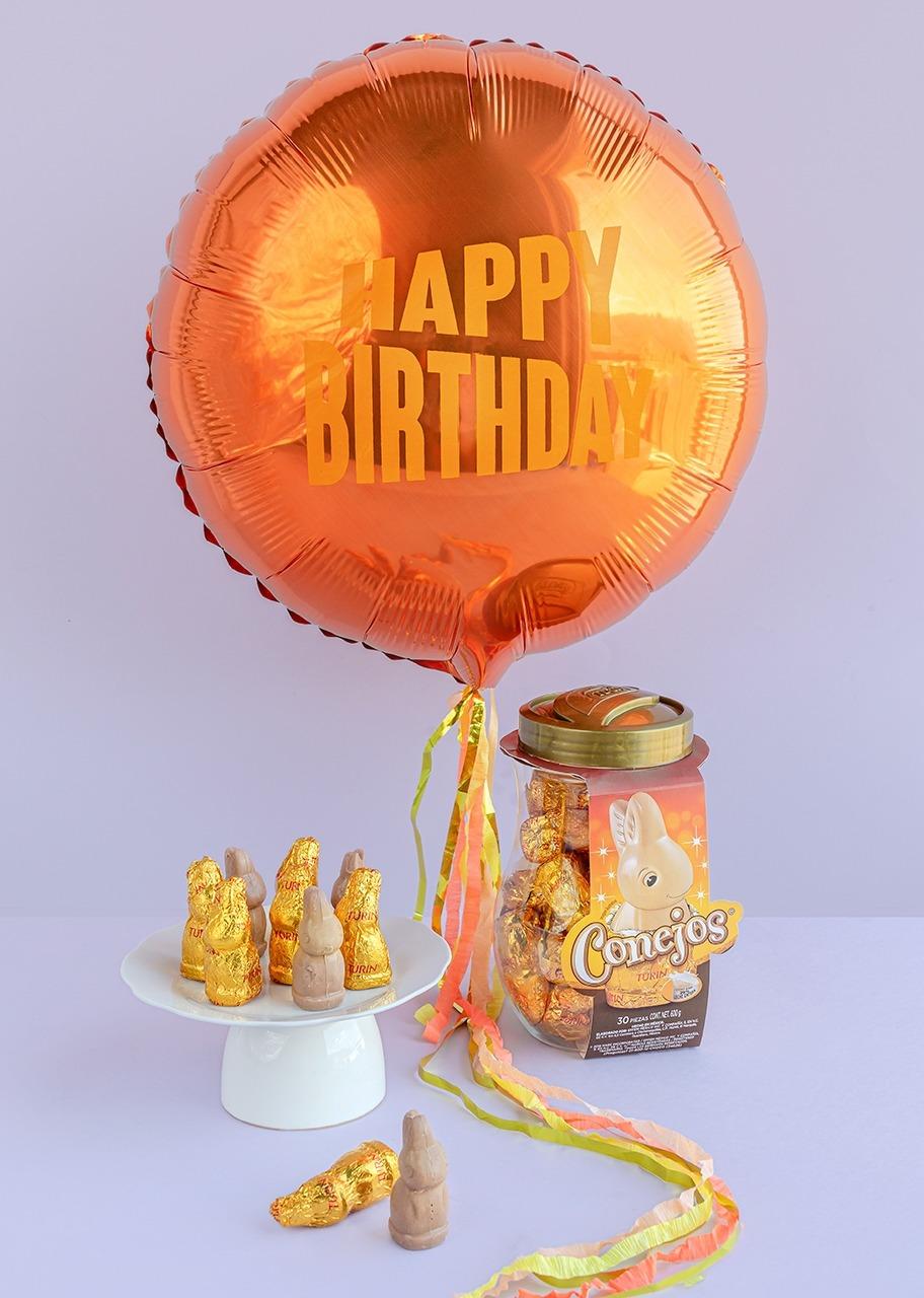 """Imagen para Conejos de Chocolate con Globo """"Happy Birthday"""" - 1"""