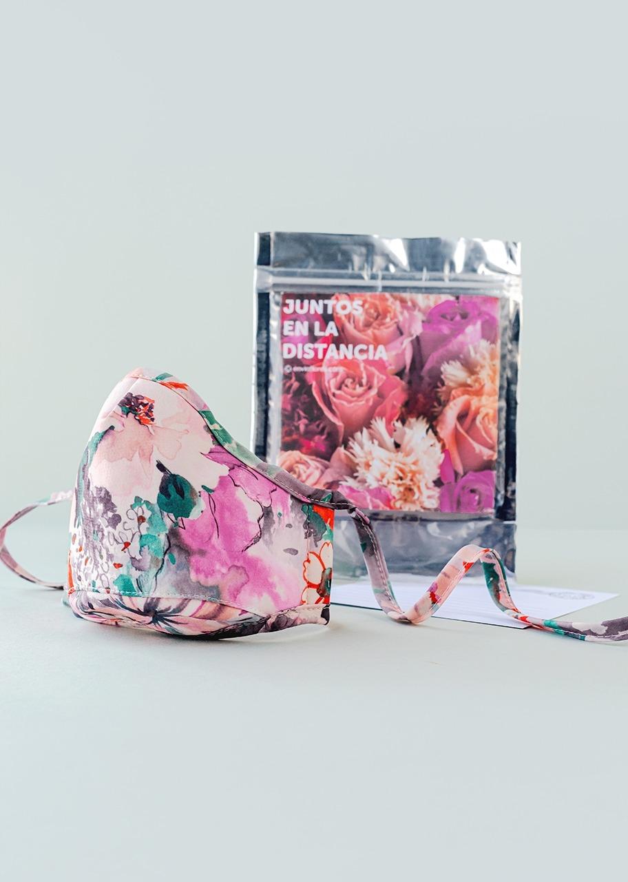 Imagen para Cubre bocas con estampado floral - 1