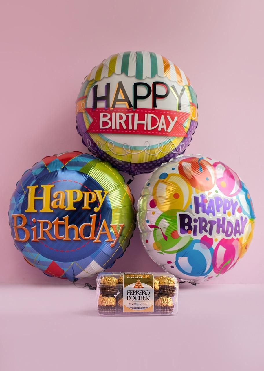 Imagen para ¡Cumpleaños Feliz! Arreglo de Globos con Ferrero - 1