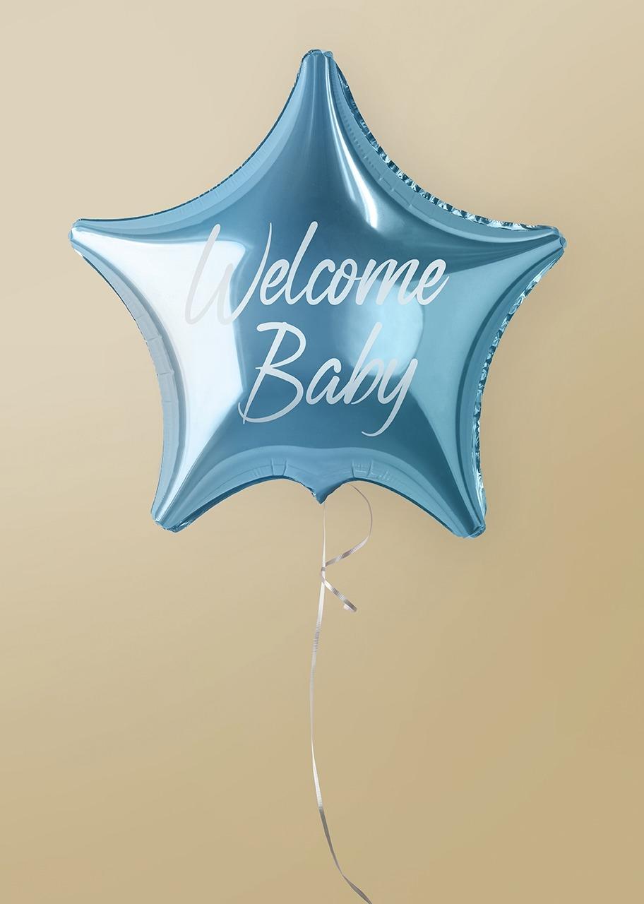 """Imagen para Globo Estrella Azul """"Welcome Baby"""" - 1"""