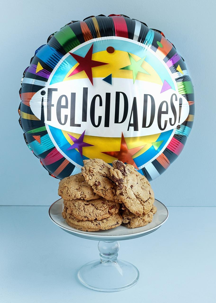 Imagen para Galletas Chocochips 6 pz con Globo Felicidades - 1