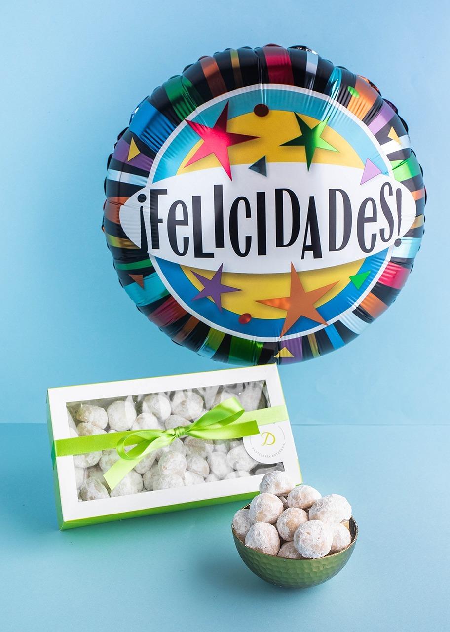 Imagen para Galletas de nuez con globo de Felicidades - 1