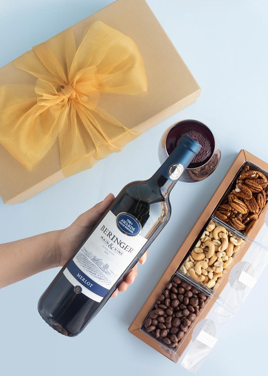 Imagen para Giftbox Vino Tinto Beringer Merlot - 1