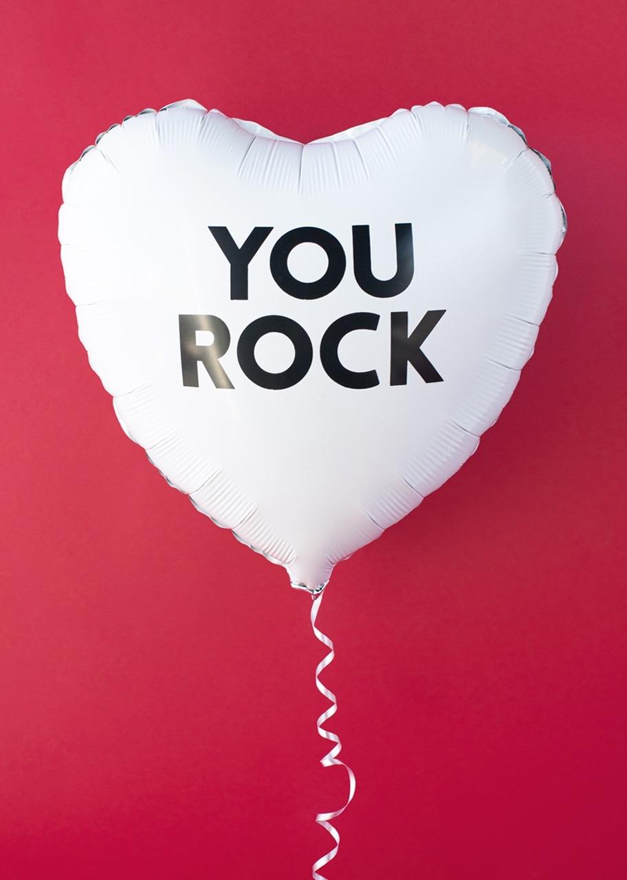 "Imagen para Globo Blanco ""You Rock"" - 1"