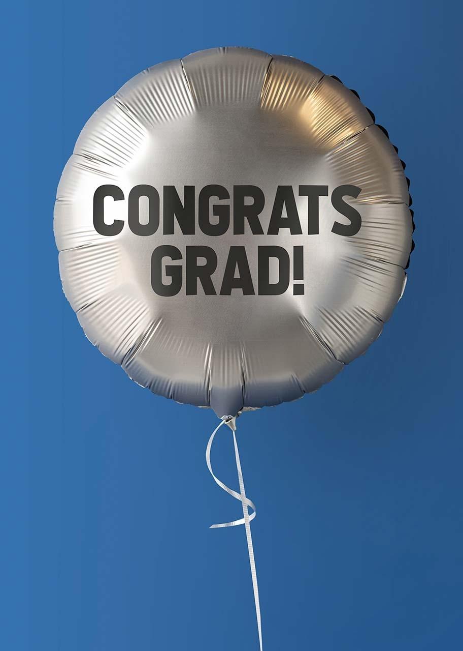 "Imagen para Globo plateado ""Congrats Grad!"" - 1"