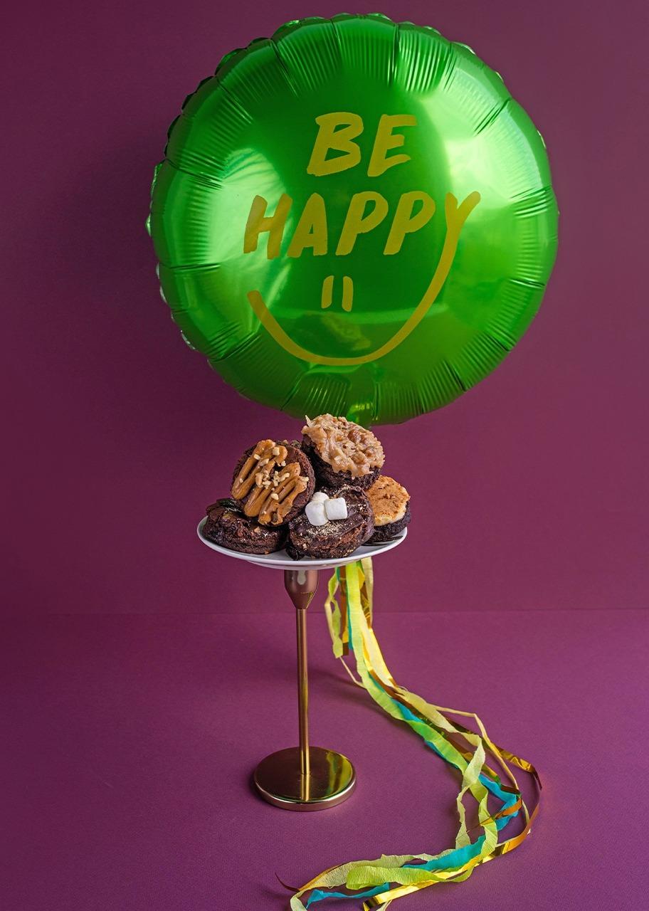 Imagen para Globo Be happy con brownies 6 pzas - 1