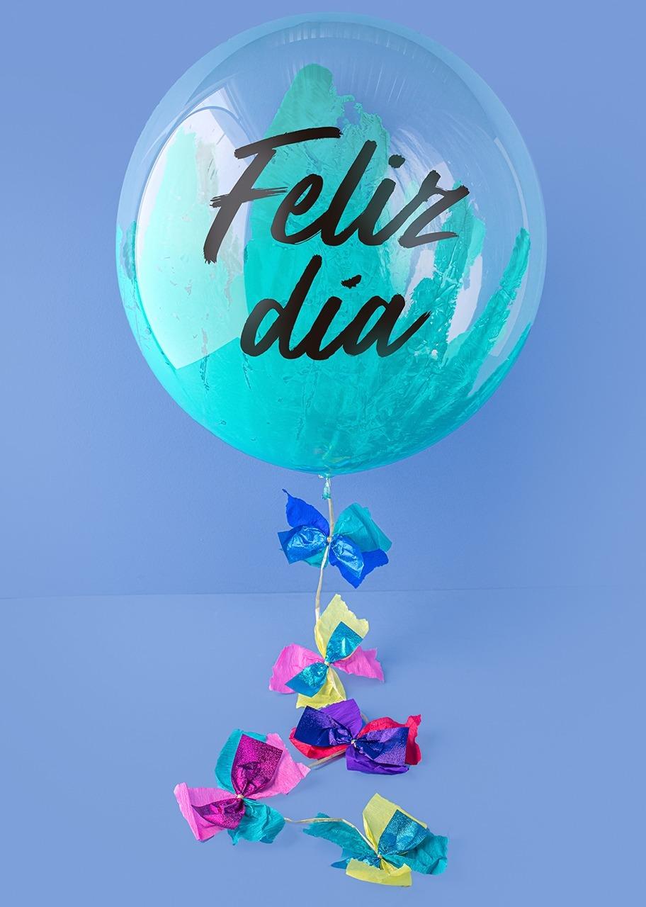 "Imagen para Globo Burbuja ""Feliz Día"" Azul - 1"