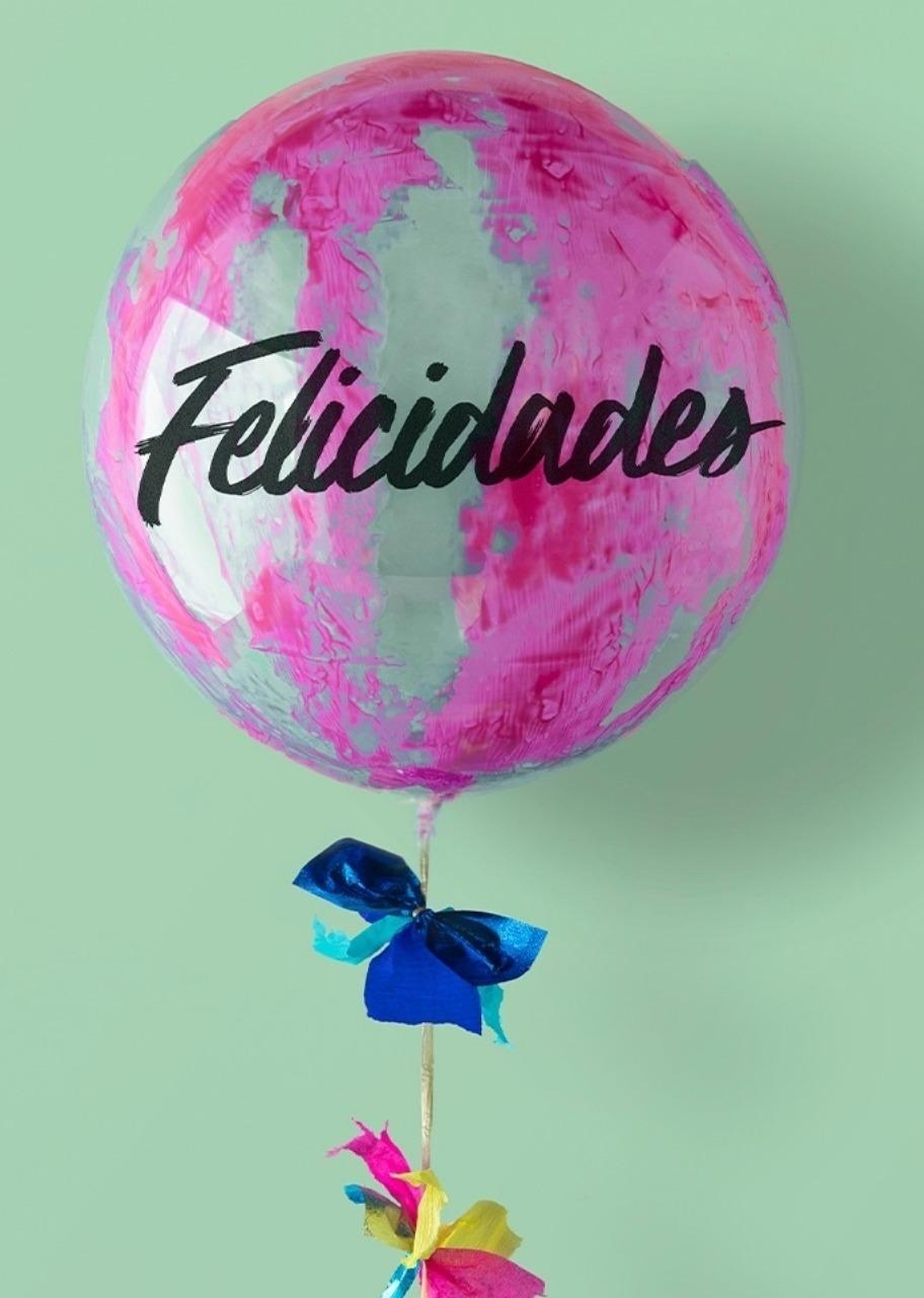 Imagen para Globo Burbuja Felicidades Rosa - 1