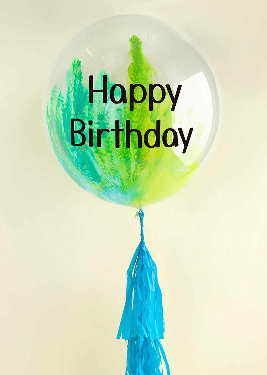 "Imagen para Globo Burbuja ""Happy birthday"" Azul - 1"