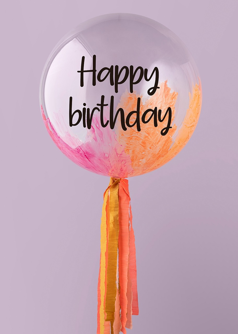 "Imagen para Globo Burbuja ""Happy birthday"" Coral - 1"