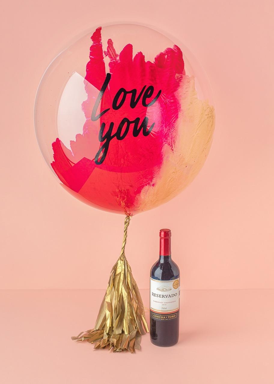 """Imagen para Globo Burbuja """"Love You"""" con Vino Tinto - 1"""