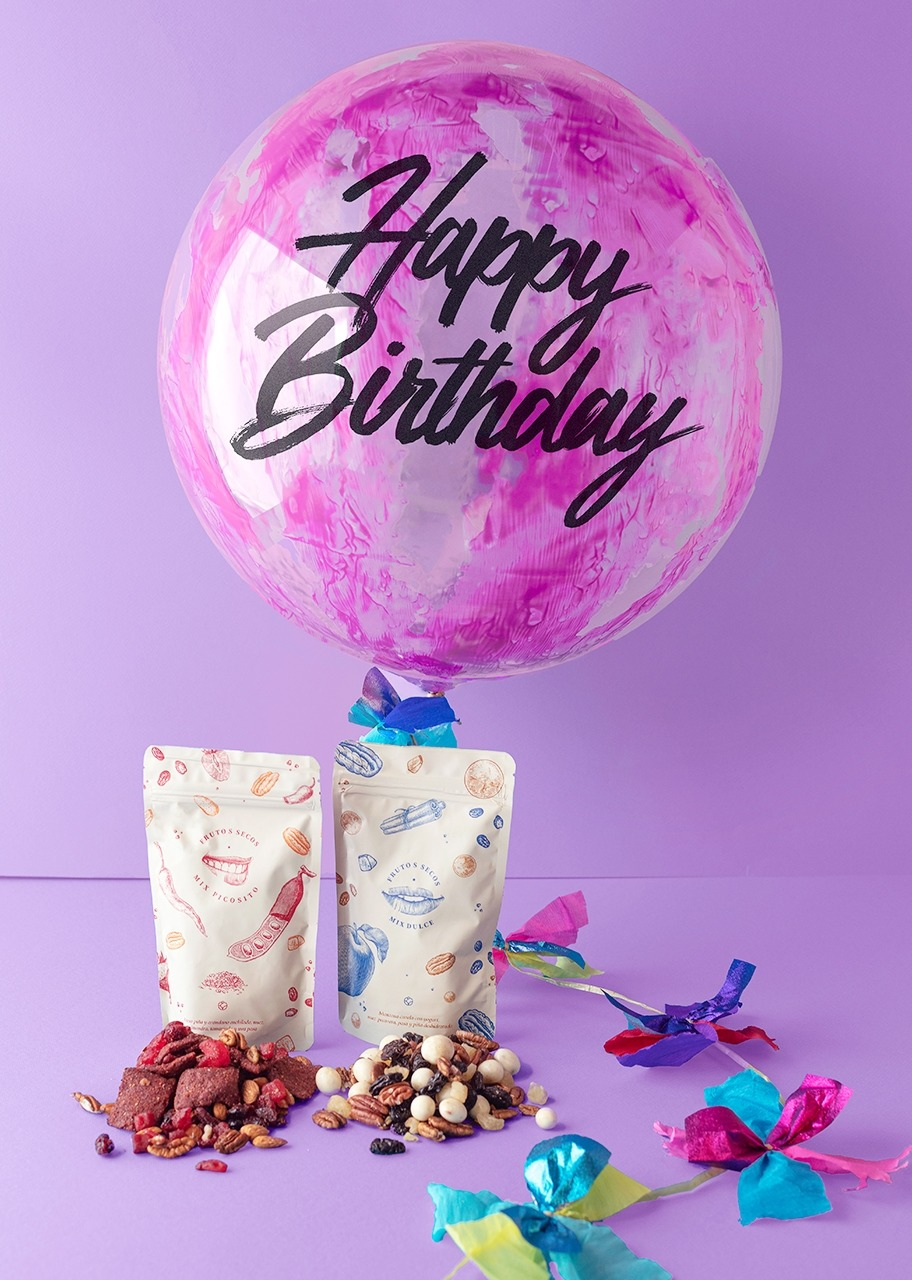 Imagen para Globo Decorado Happy Birthday con Botana - 1