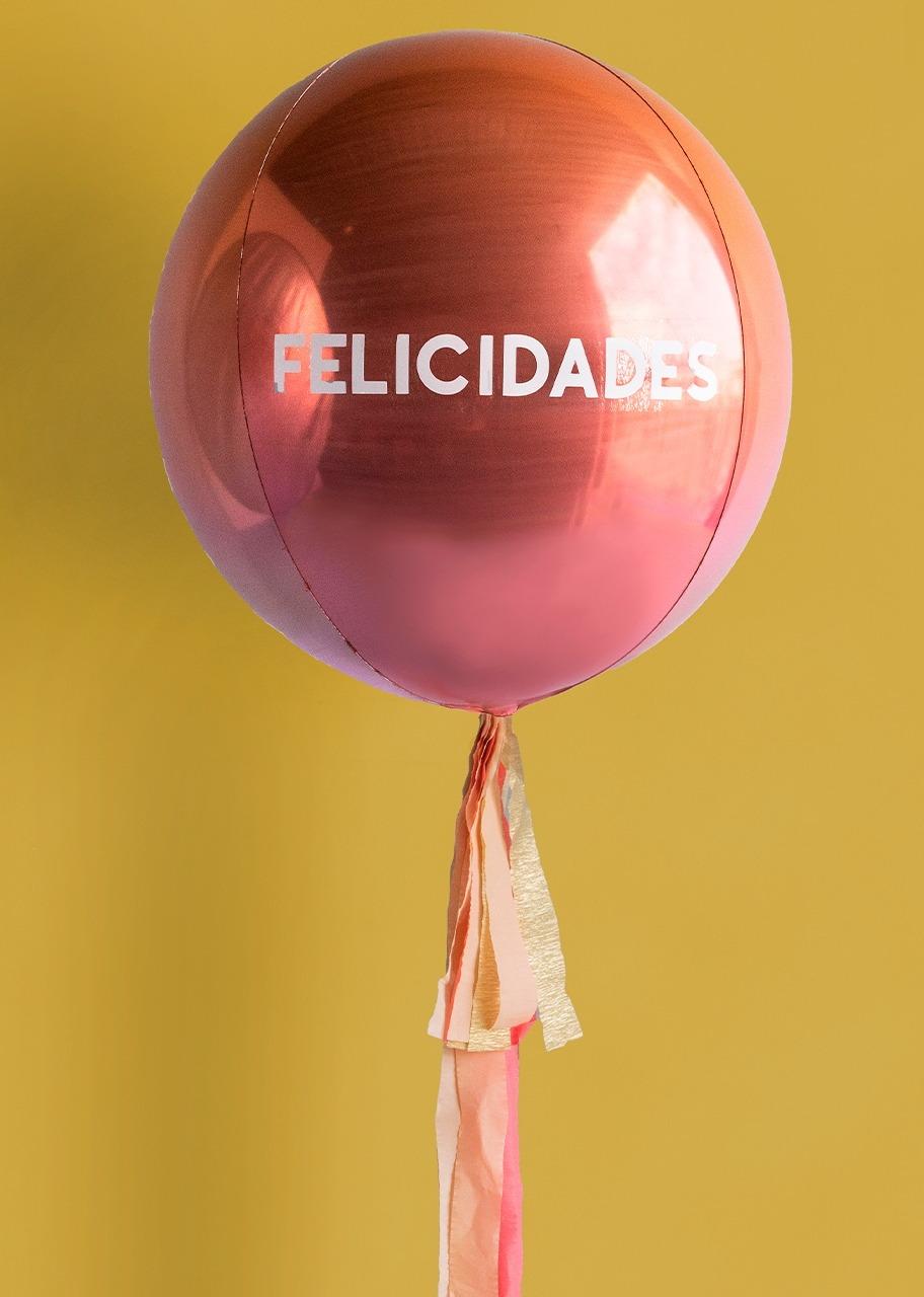 Imagen para Globo Esférico Rosa Felicidades - 1