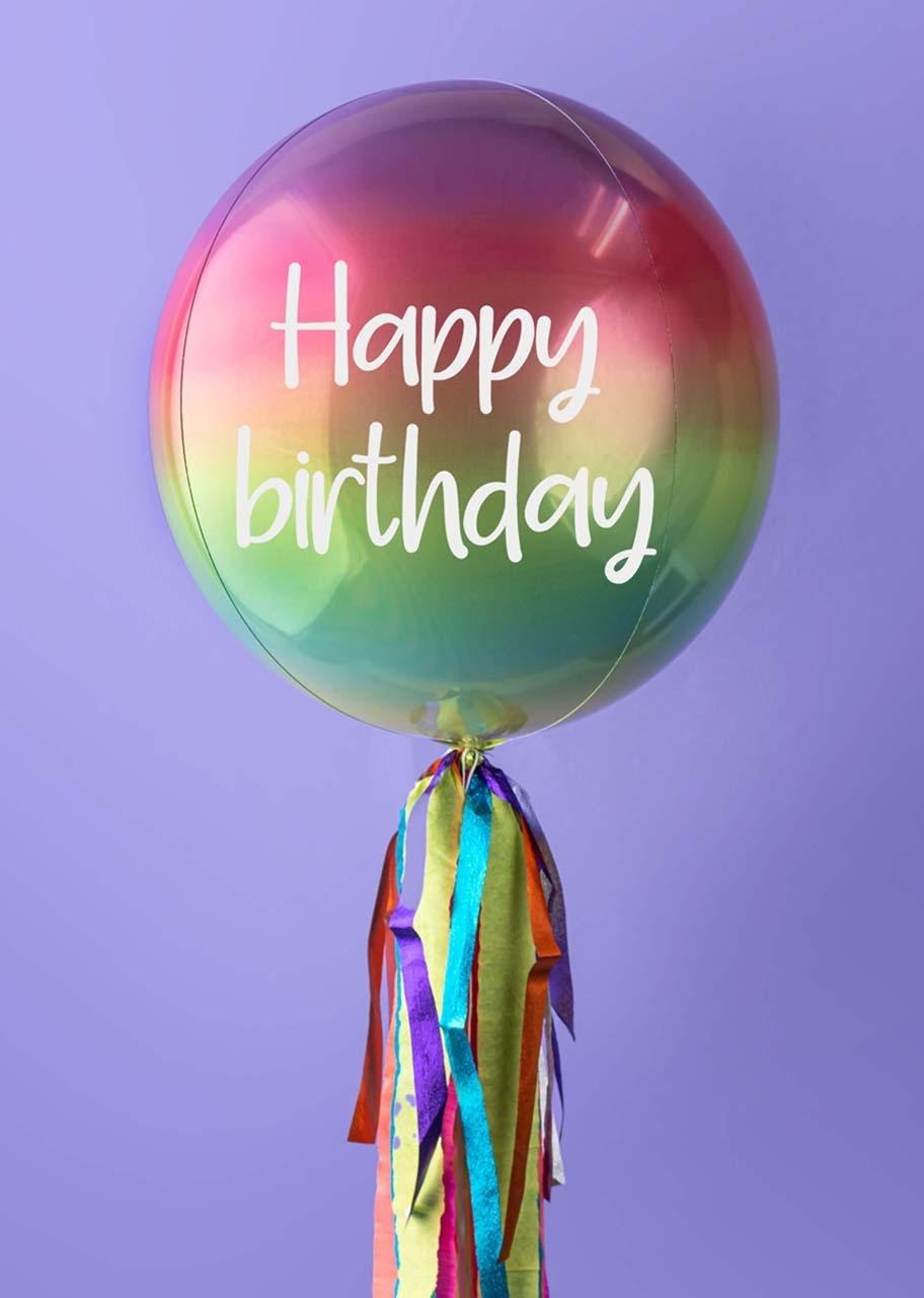 "Imagen para Globo Orbz Arcoíris ""Happy Birthday"" - 1"