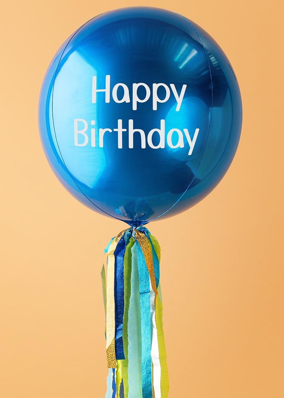 "Imagen para Globo Orbz Azul ""Happy Birthday"" - 1"