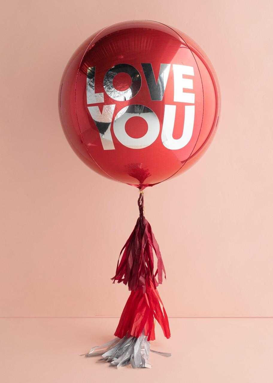 """Imagen para Globo Orbz """"Love You"""" Rojo - 1"""