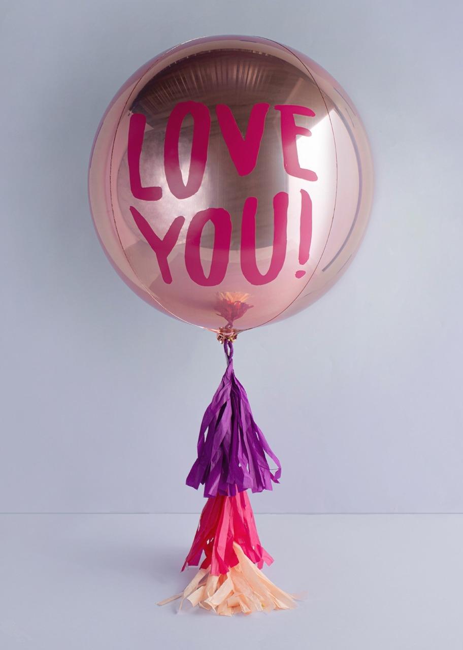 "Imagen para Globo Orbz ""Love You!"" Rosa - 1"