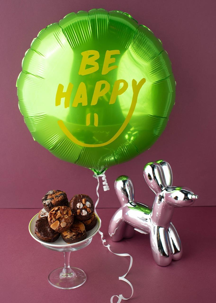 Imagen para Globo con brownies y figura plateada - 1