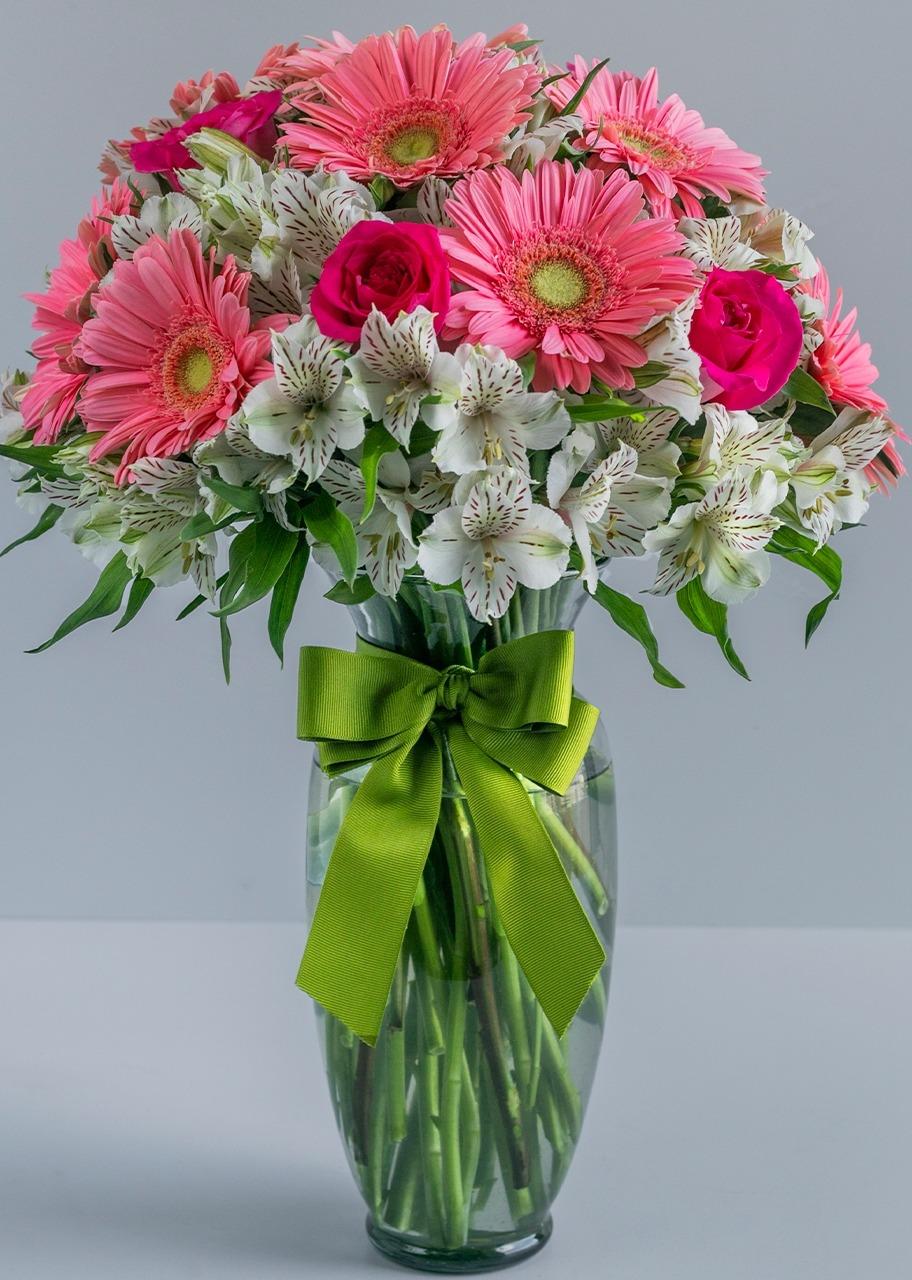Imagen para Lindo Día con Rosas y Gerberas - 1
