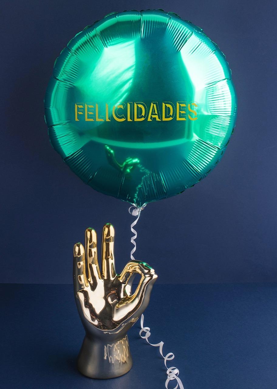 """Imagen para Mano dorada con Globo """"Felicidades"""" - 1"""