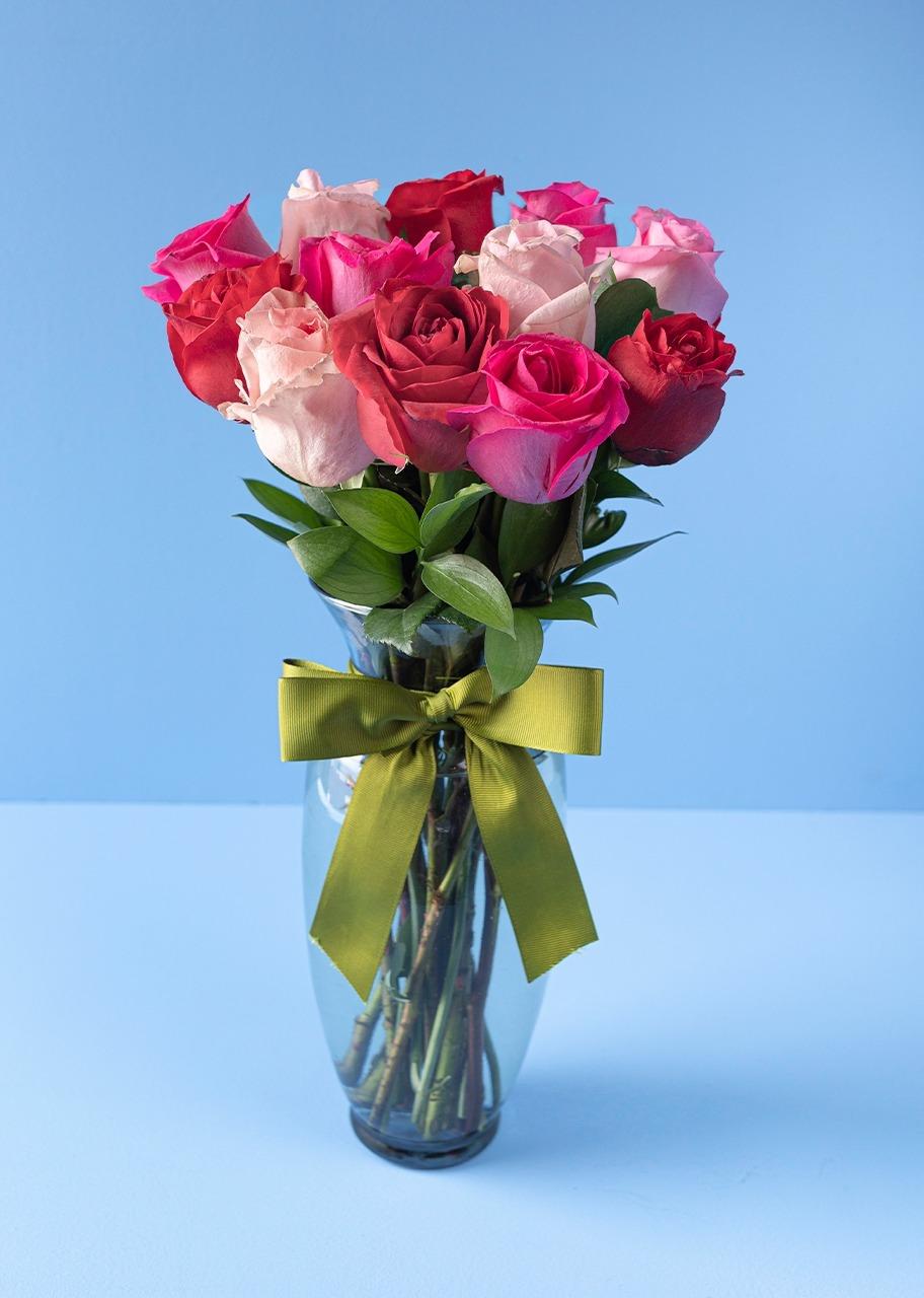 Imagen para Mi Corazón con 12 Rosas combinadas - 1