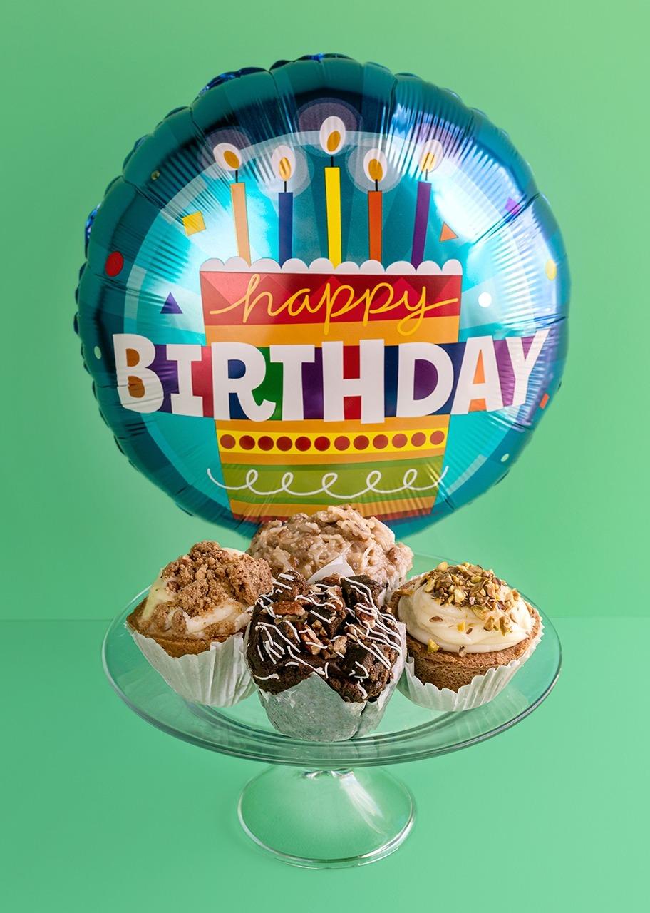 """Imagen para Divinata Muffins with """"Happy Birthday Balloon"""" - 1"""