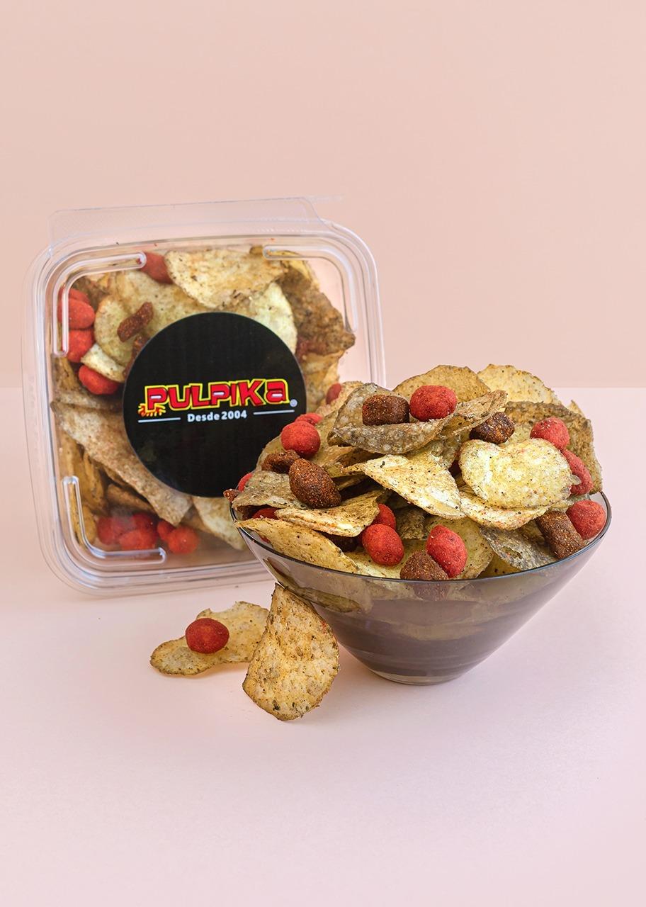 "Imagen para ""Black Flavor"" Pulpika Potato Chips - 1"