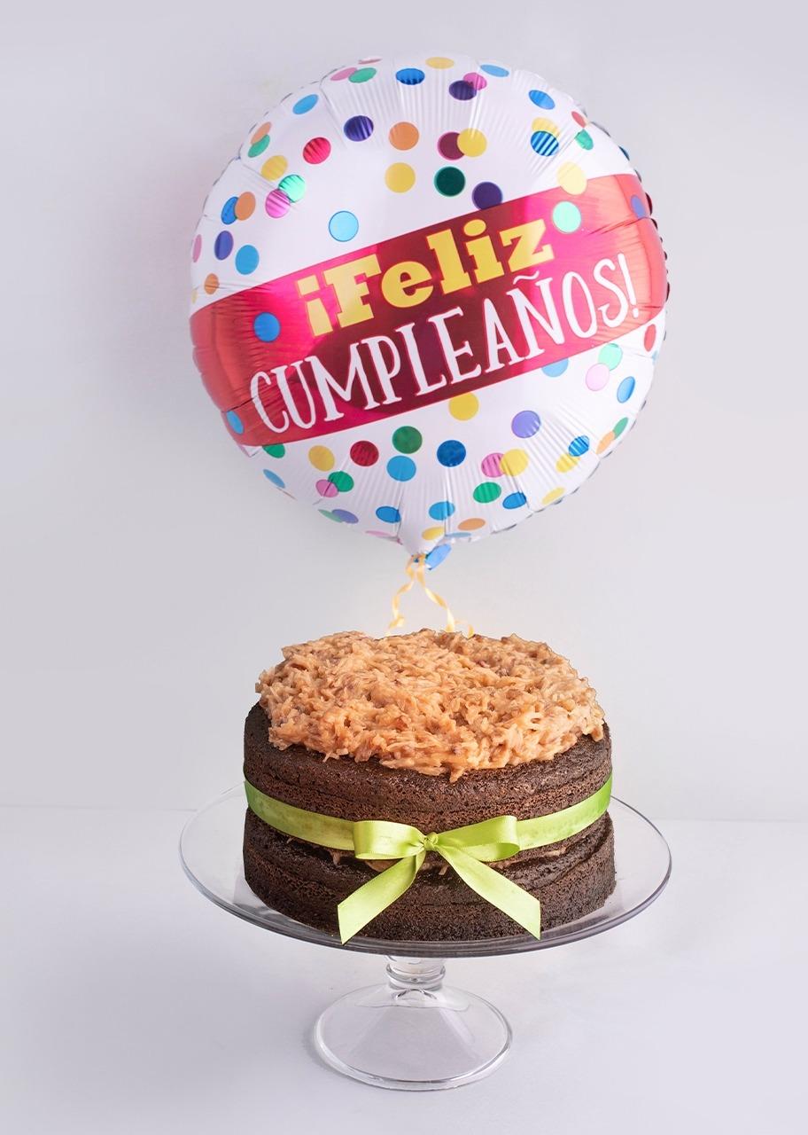 Imagen para Pastel Aleman Mediano con globo de cumpleaños - 1