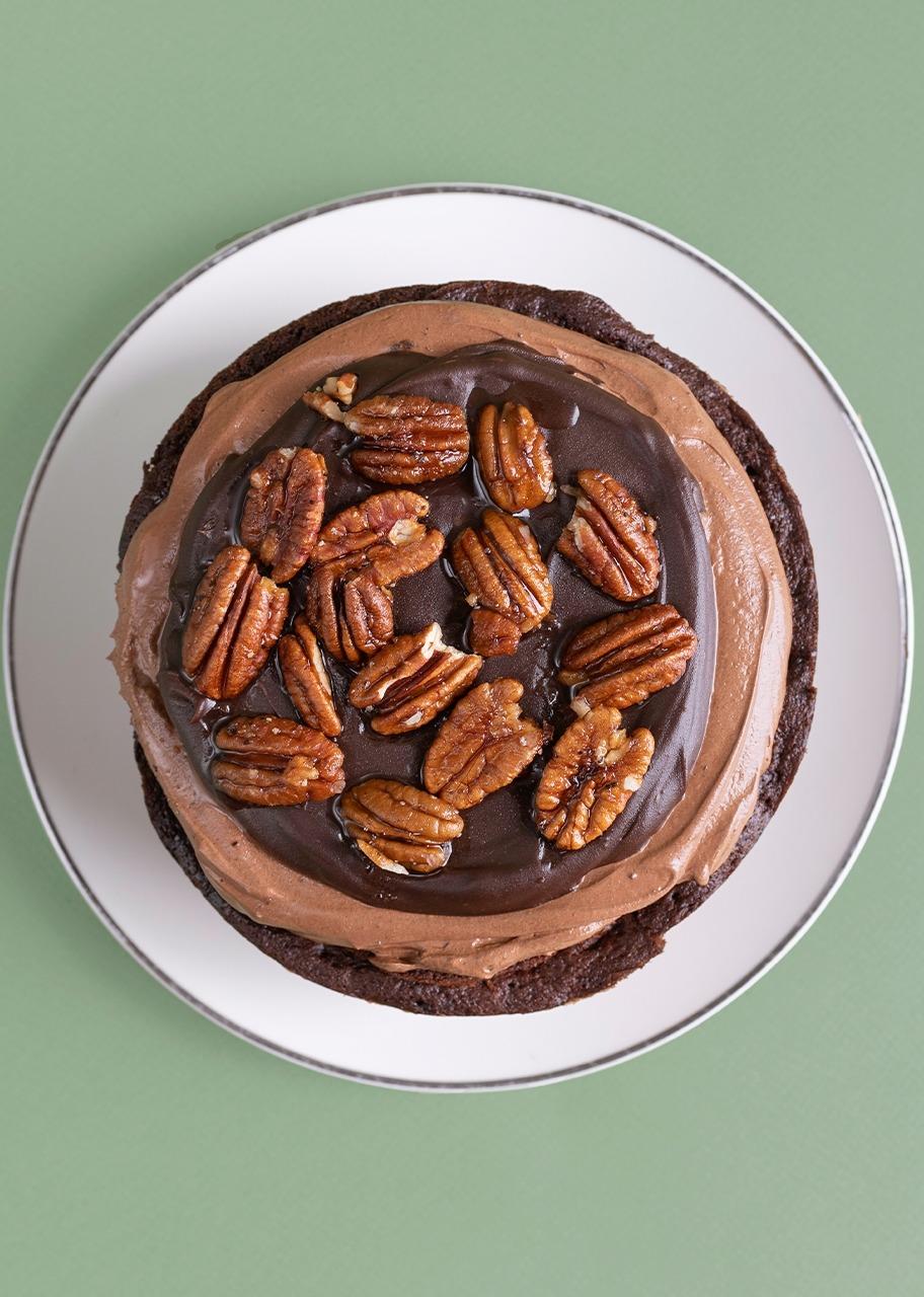 Imagen para Small Christmas triple chocolate cake - 1