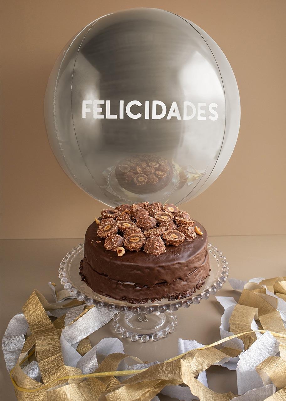 """Imagen para Divinata Ferrero Cake with """"Felicidades"""" Balloon - 1"""
