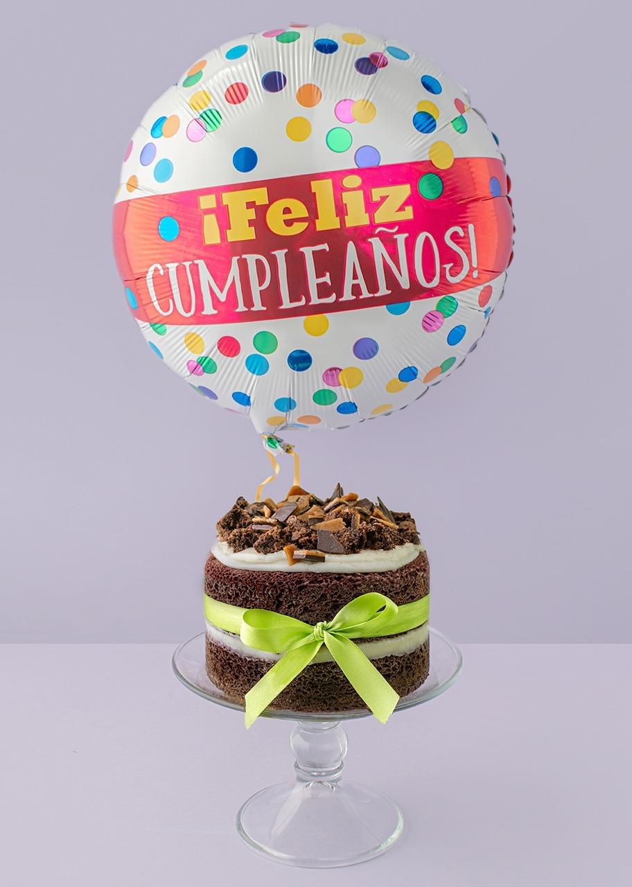 Imagen para Pastel Red Velvet con globo de cumpleaños - 1