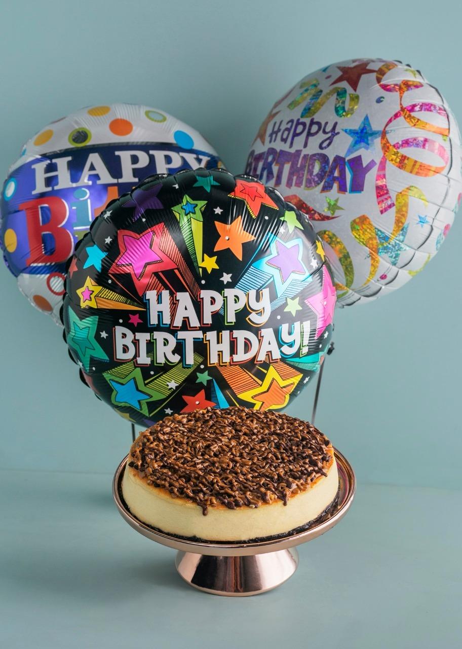 Imagen para Pastel Tortugacon Globos de cumpleaños - 1