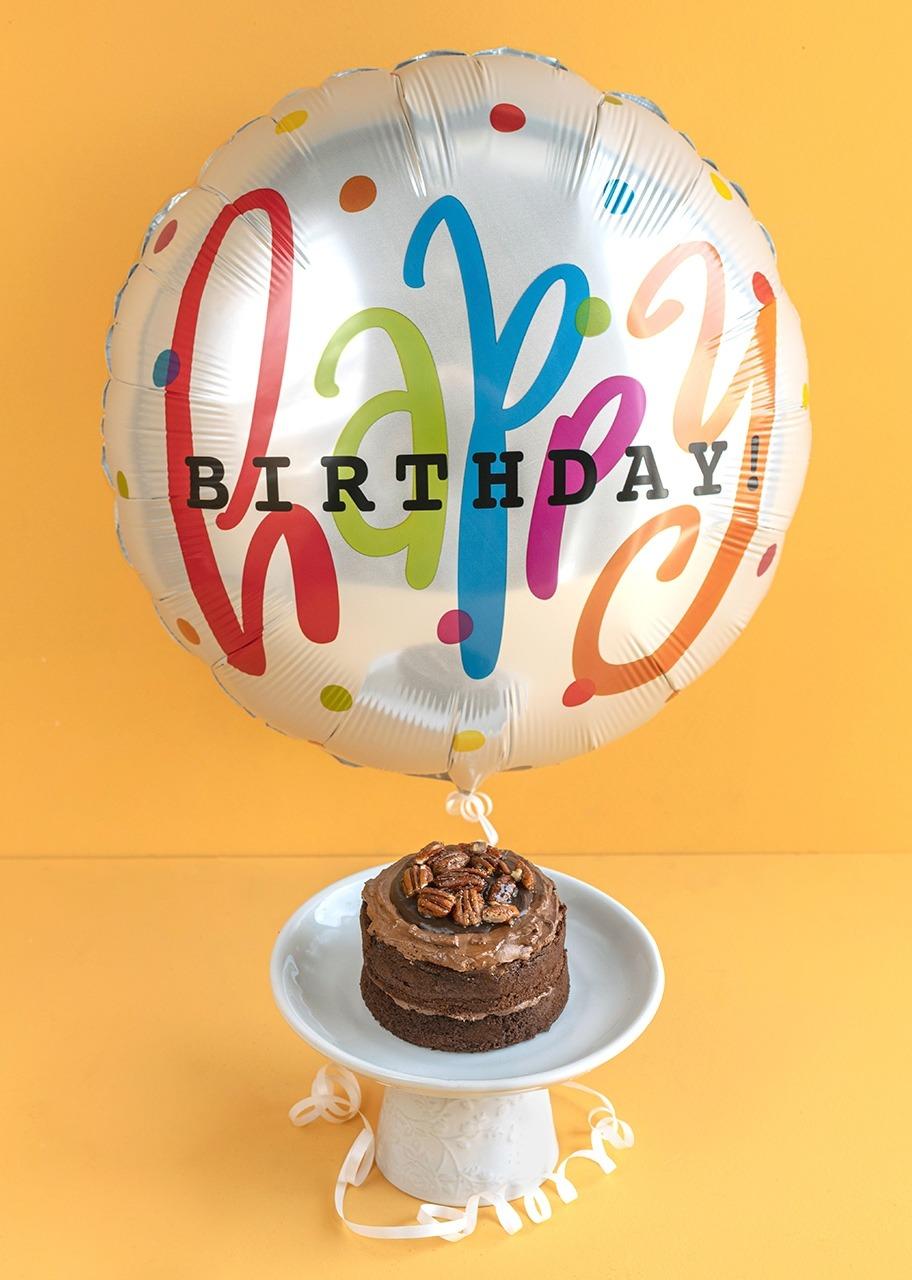 Imagen para Pastel Triple Chocolate Ind. con Globo de Cumpleaños - 1