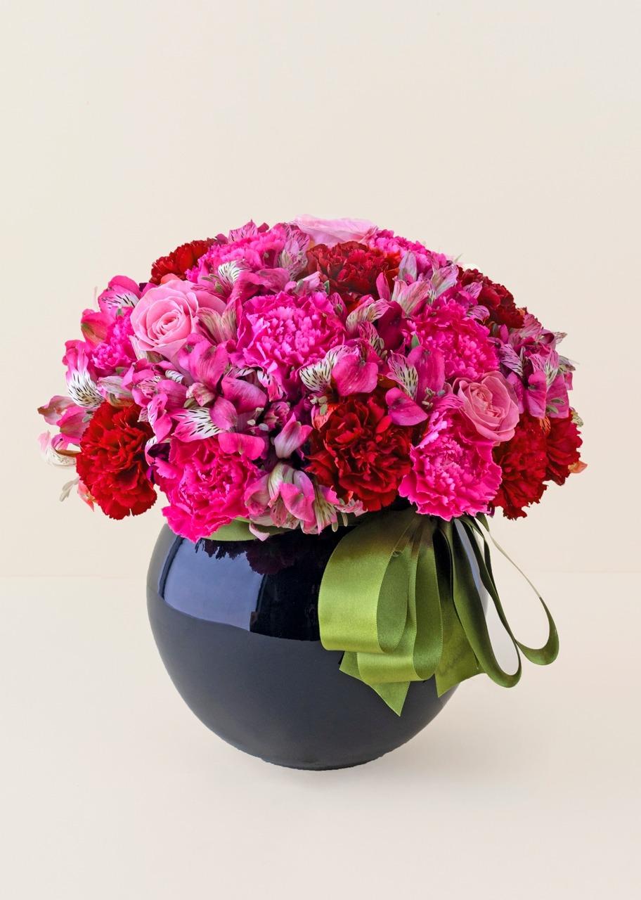 Imagen para Rosas y alstroemerias en base negra - 1