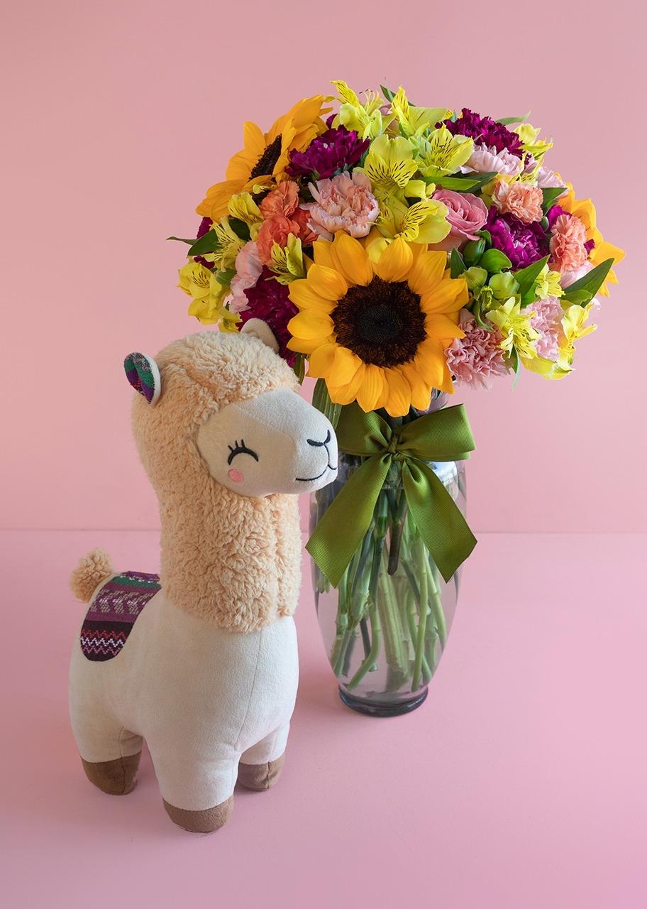 Imagen para Peluche de Llama con Girasoles - 1