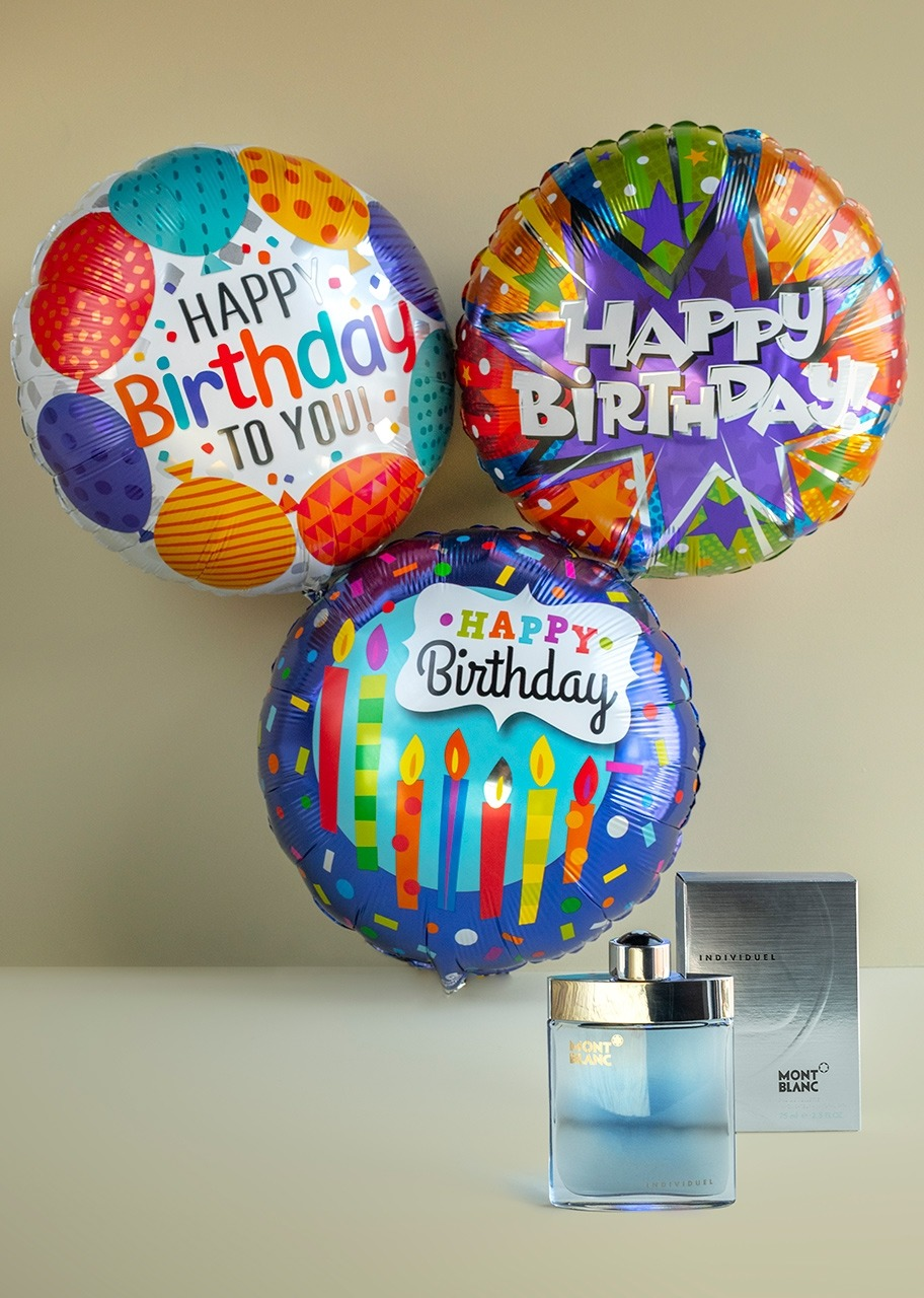 Imagen para Mont Blanc Lotion and Birthday Balloons - 1