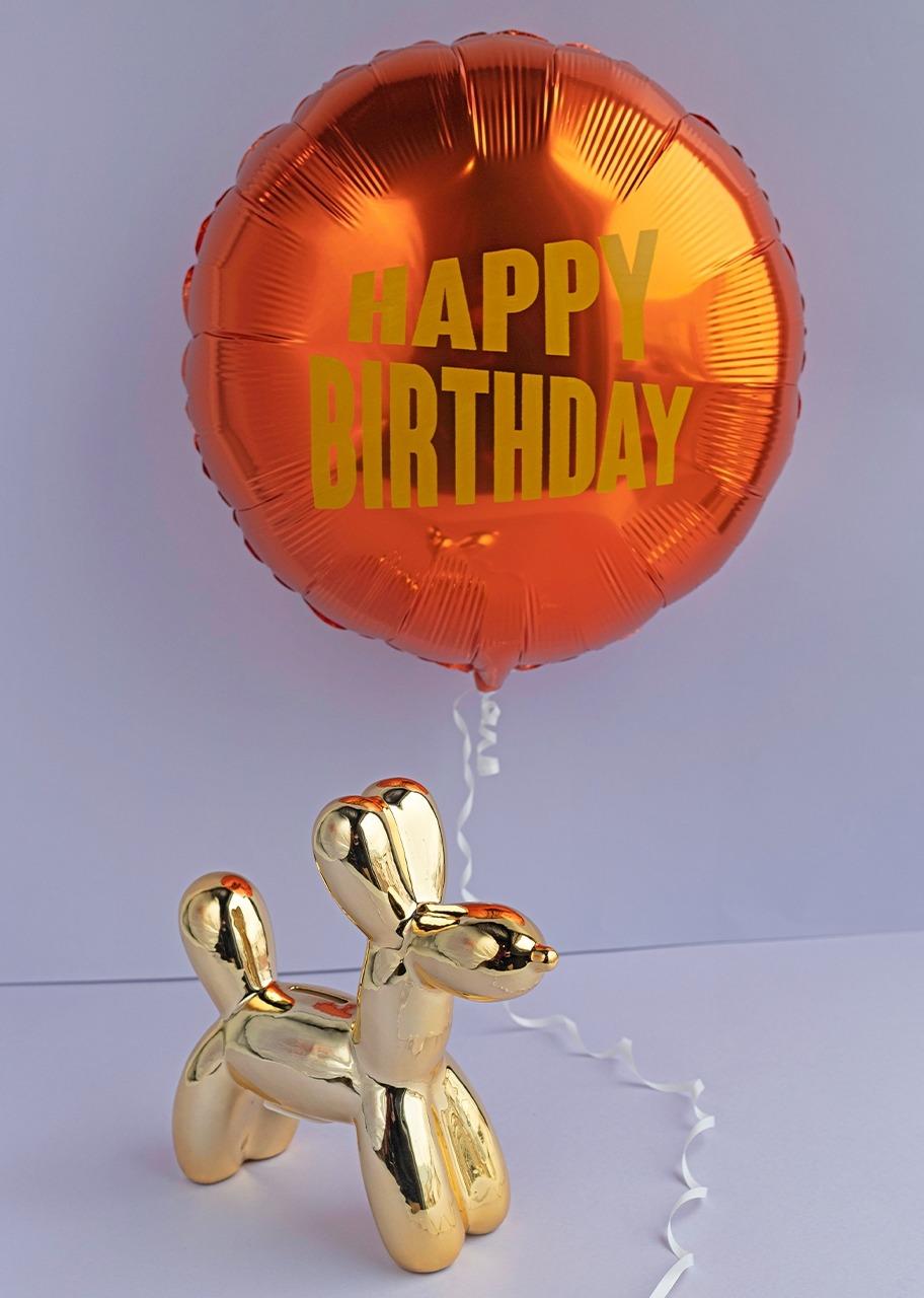 """Imagen para Perrito dorado con Globo """"Happy Birthday"""" - 1"""