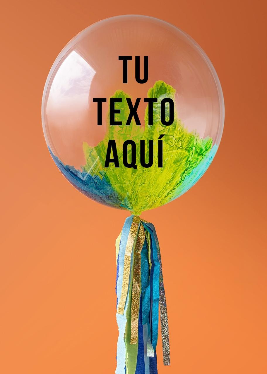 Imagen para Personalize your Aquamarine Bubble Balloon - 1