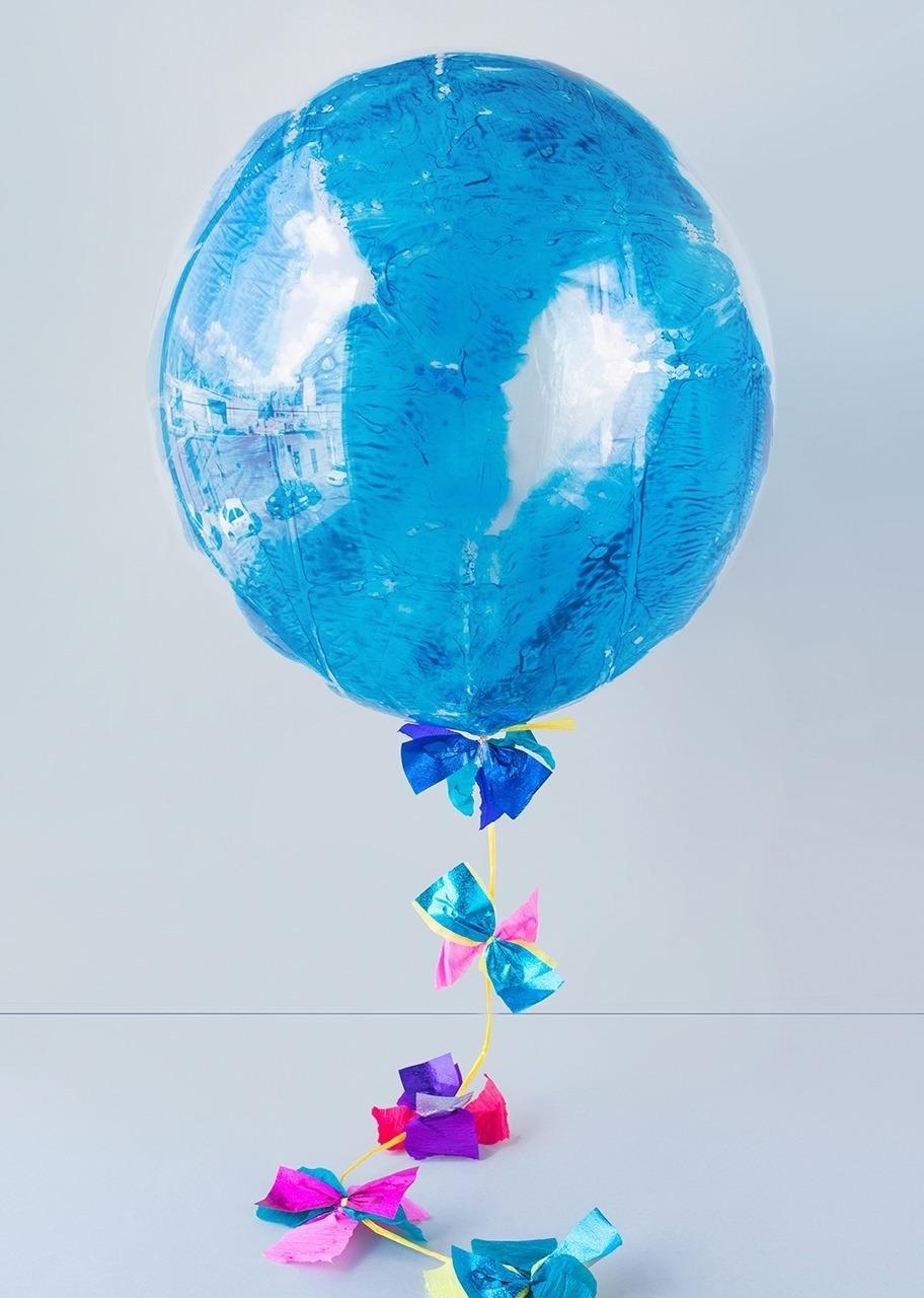 Imagen para Personaliza tu Globo Burbuja Azul - 2
