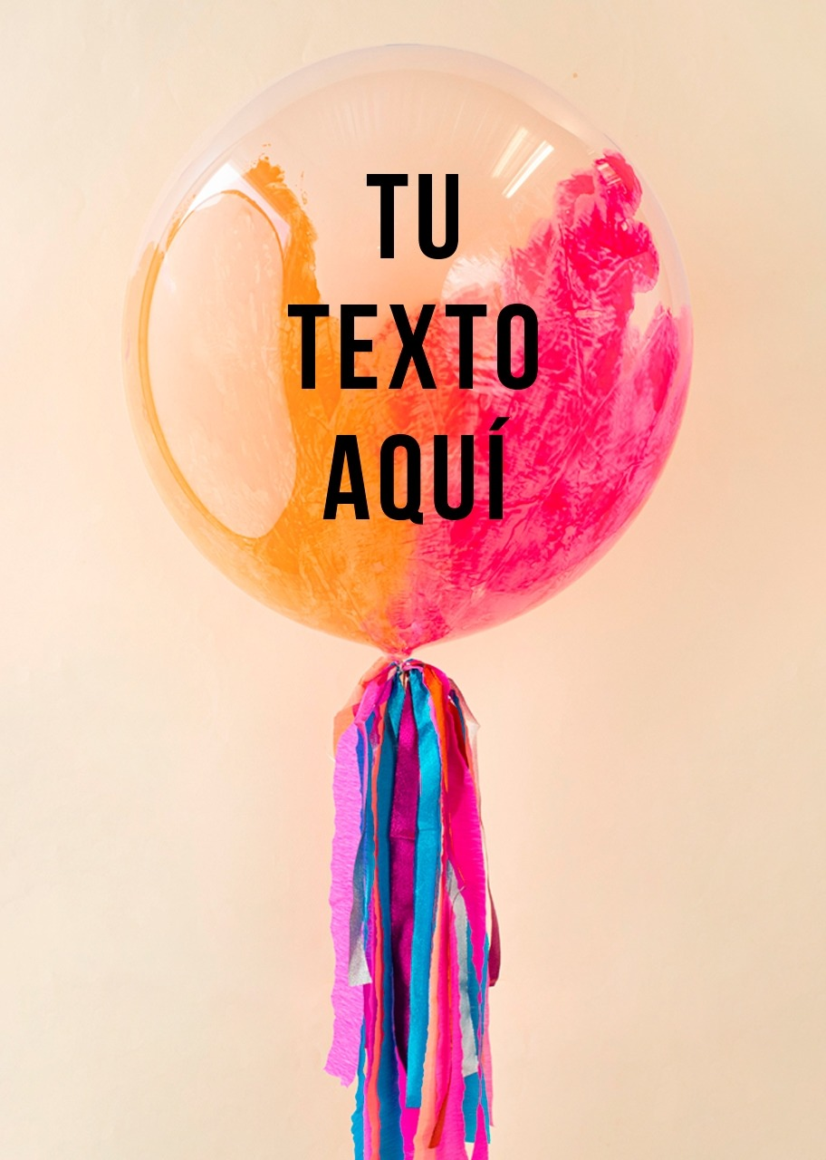 Imagen para Personalize your Pink-Coral Bubble Balloon - 1