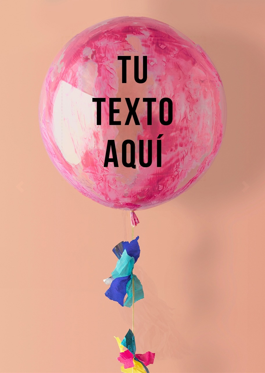 Imagen para Personaliza tu Globo Burbuja Rosa - 1