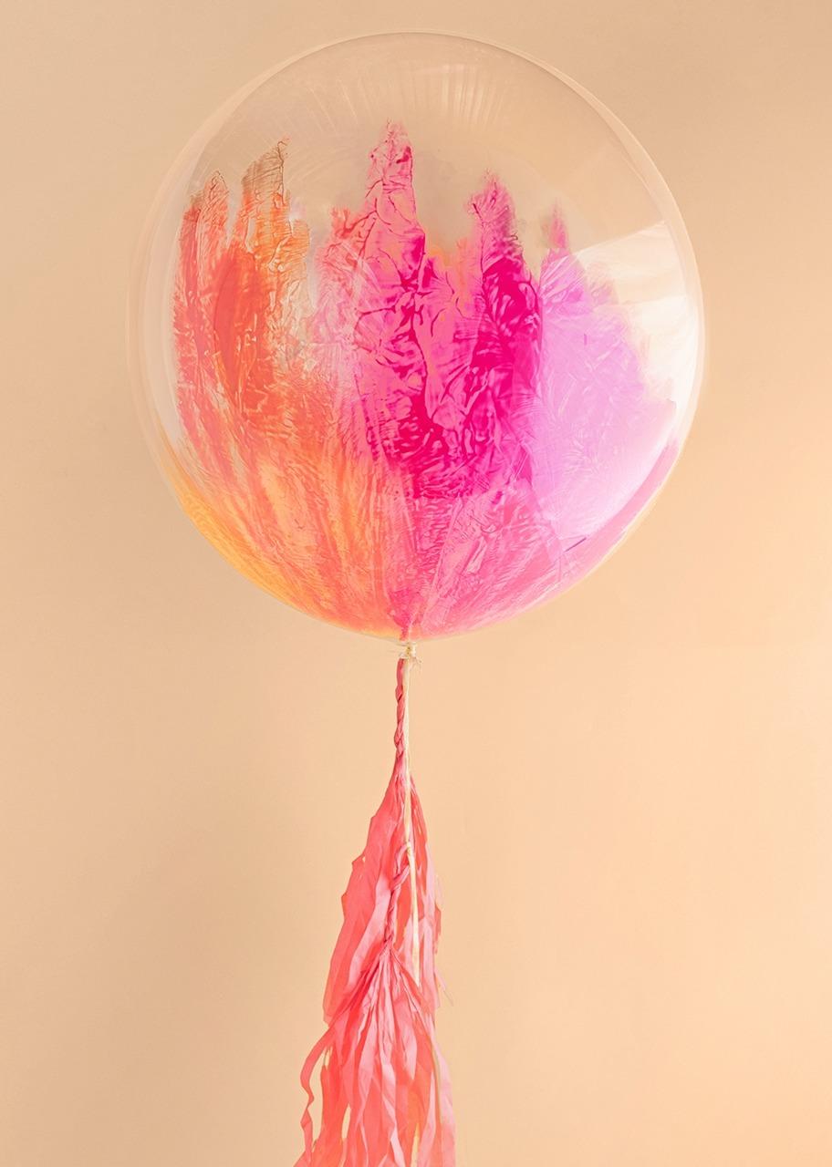 Imagen para Personaliza tu Globo Burbuja Rosa - 2