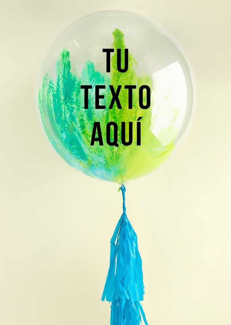 Imagen para Personaliza tu Globo Burbuja Verde - 1