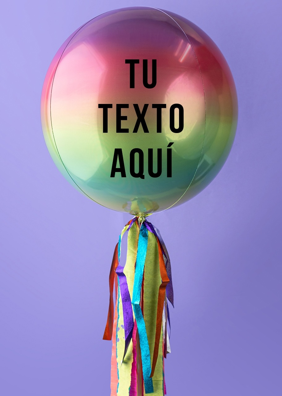 Imagen para Personalize your Rainbow Orbz Balloon - 1