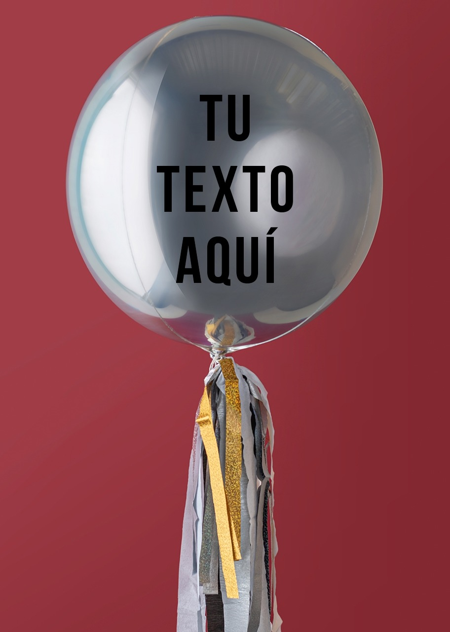 Imagen para Personalize your Silver Orbz Balloon - 1