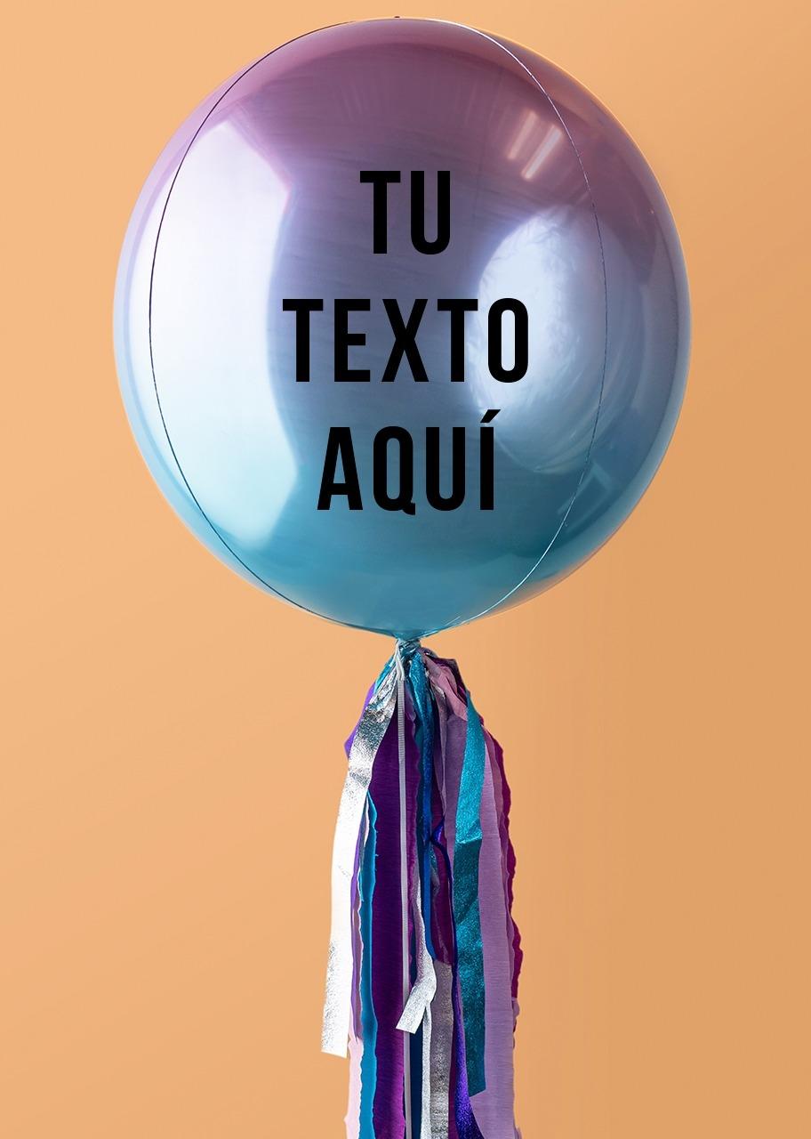 Imagen para Personaliza tu Globo Orbz Rosa con Azul - 1