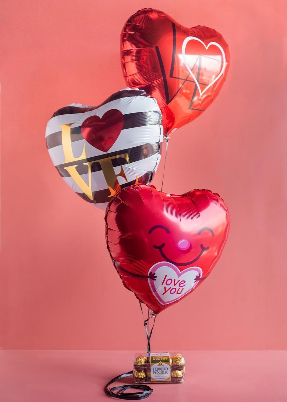 Imagen para Ramillete de Globos con Chocolates Ferrero - 1