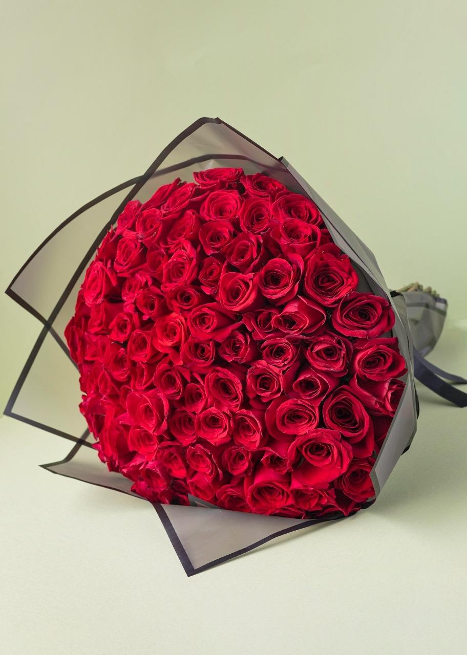 Imagen para 100 Red Roses Bouquet - 1